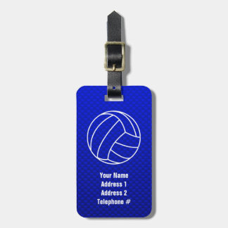Deep Blue Volleyball Luggage Tag