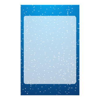 Deep Blue Water and TIny Bubbles Stationery