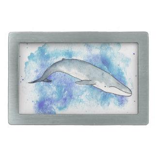 Deep blue whale belt buckle