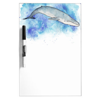 Deep blue whale dry erase white board