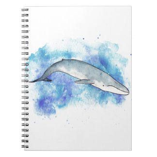 Deep blue whale notebooks