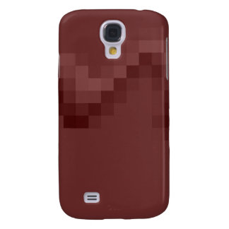 Deep Burgundy Red Abstract Squares Design. Galaxy S4 Case