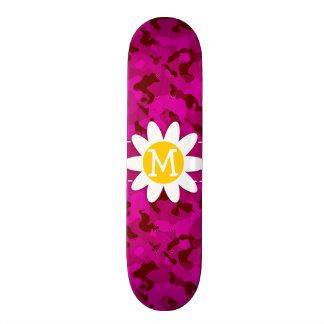Deep Cerise Camo; Camouflage.gif Skateboard Decks