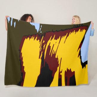 Deep Colours Mountains Abstract Modern Vector Art Fleece Blanket