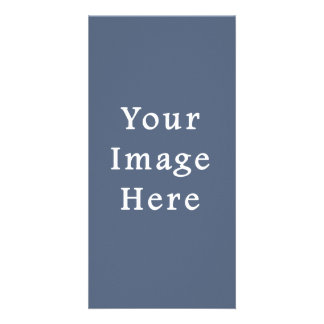 Deep Confederate Blue Color Trend Blank Template Photo Card Template