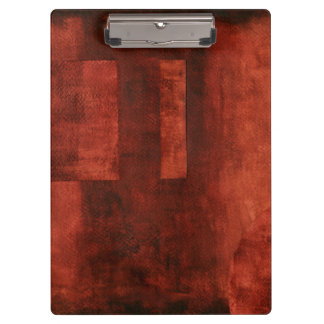 Deep Crimson Painting with Geometric Shapes Clipboard