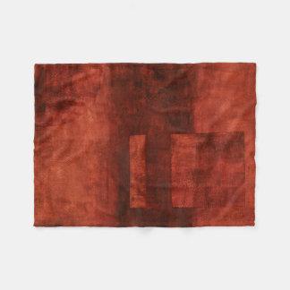 Deep Crimson Painting with Geometric Shapes Fleece Blanket