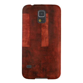 Deep Crimson Painting with Geometric Shapes Galaxy S5 Cover