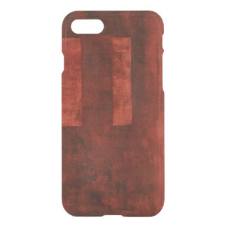 Deep Crimson Painting with Geometric Shapes iPhone 8/7 Case