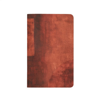 Deep Crimson Painting with Geometric Shapes Journal
