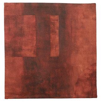 Deep Crimson Painting with Geometric Shapes Napkin