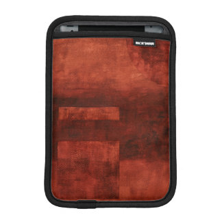 Deep Crimson Painting with Geometric Shapes Sleeve For iPad Mini