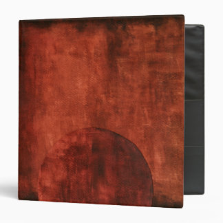 Deep Crimson Painting with Geometric Shapes Vinyl Binders