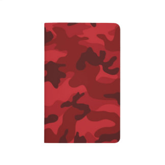 Deep, Dark Red Camo, Camouflage Journals