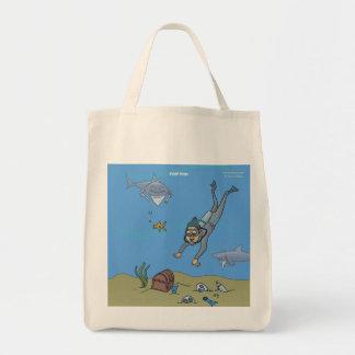 Deep Dish Diver Canvas Bag