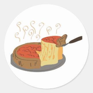 Deep Dish Pizza Classic Round Sticker