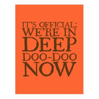DEEP DOO-DOO in brown Postcard