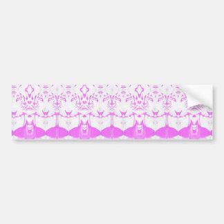 deep dream albino bumper sticker