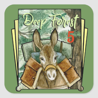Deep Forest 5 Square Sticker