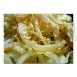 Deep fried onions card