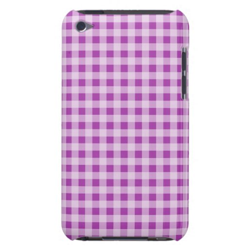 Deep Fuchsia Gingham; Checkered iPod Touch Case