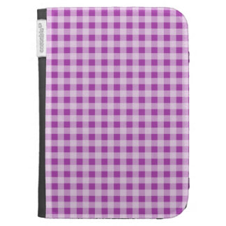 Deep Fuchsia Gingham; Checkered Kindle 3G Cases