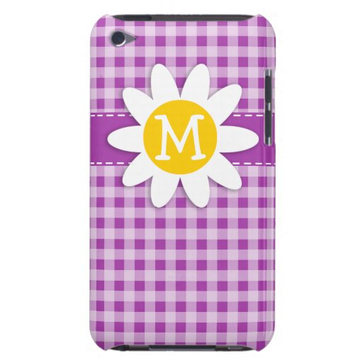 Deep Fuchsia Gingham; Daisy iPod Touch Case-Mate Case