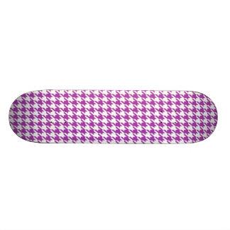 Deep Fuchsia Houndstooth Skateboard Deck