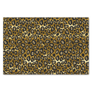 Deep Gold and Black Leopard Animal Print Tissue Paper
