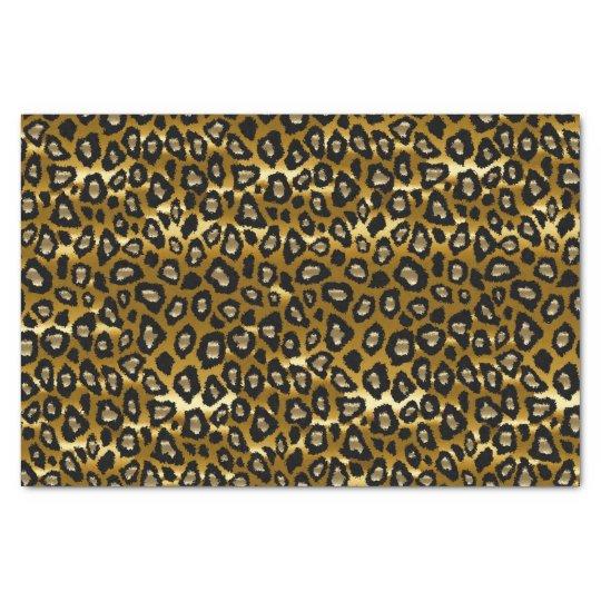 Deep Gold and Black Leopard Animal Print Tissue