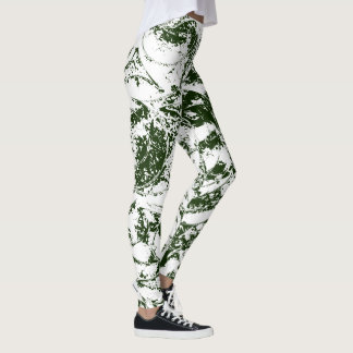 Deep Green Abstract Ornament Leggings