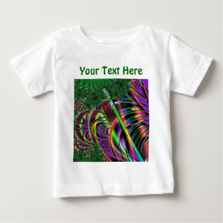 Deep green, and multi-color fractal design. baby T-Shirt