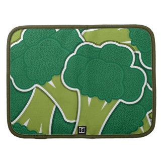 Deep Green Broccoli Heads Folio Planner