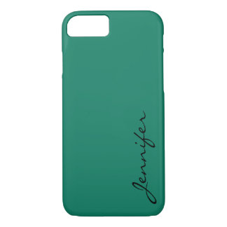 Deep green-cyan turquoise color background iPhone 7 case