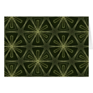 Deep green kaleidoscope card