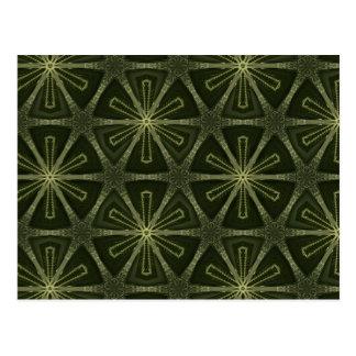 Deep green kaleidoscope post cards