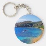 Deep Hanauma Bay, Honolulu, Oahu Basic Round Button Key Ring