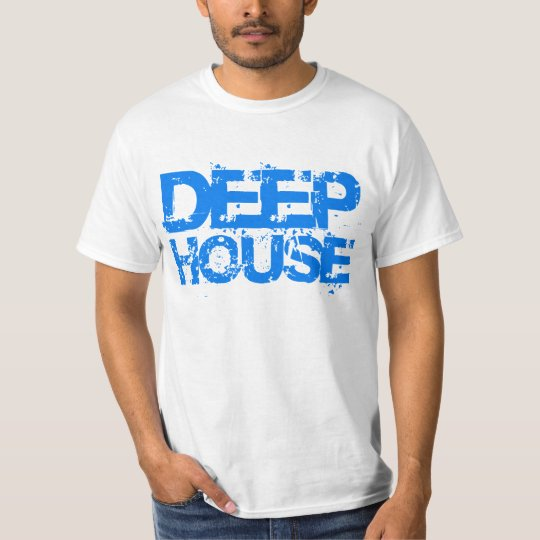 deep house music dj blue design t-shirt