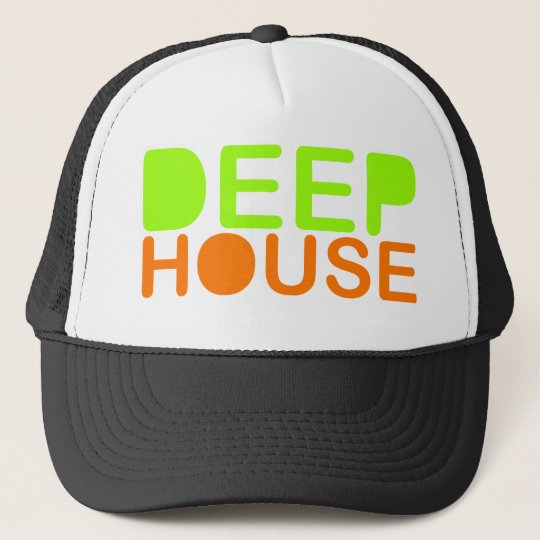 deep house music dj style trucker baseball cap