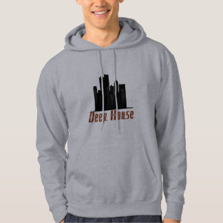 deep house Theme, grey hooded sweatshirt