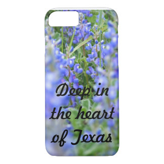 """Deep in the heart of Texas"" bluebonnet phone case"