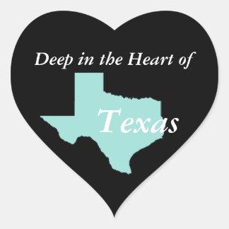 Deep in the Heart of Texas Heart Sticker