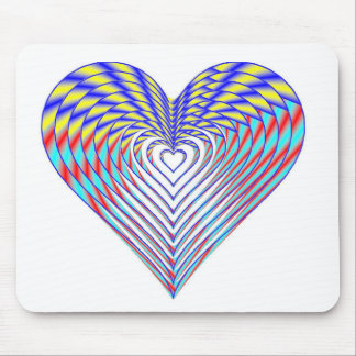 Deep in the Rainbow Heart Mouse Pad