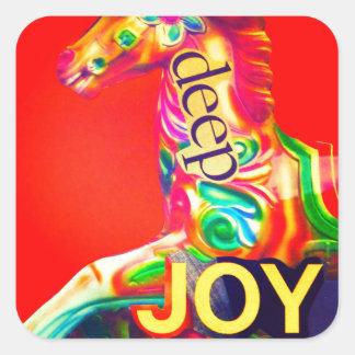 Deep Joy Square Sticker