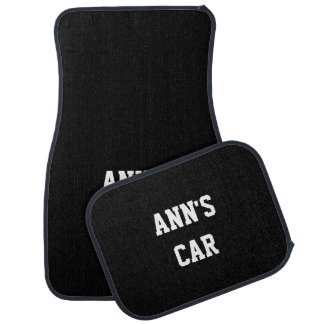 Deep Jungle Green Cool Full Color Name Car Mat