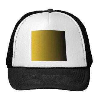 Deep Lemon to Black Vertical Gradient Hat