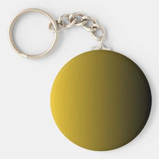 Deep Lemon to Black Vertical Gradient Keychain