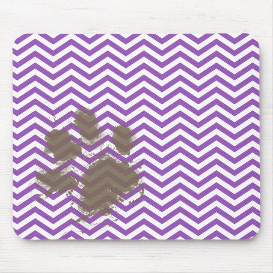 Deep Lilac Chevron Mouse Mat