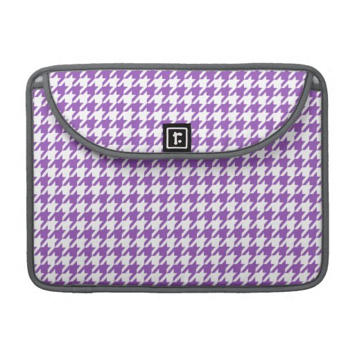 Deep Lilac Houndstooth Sleeves For MacBooks
