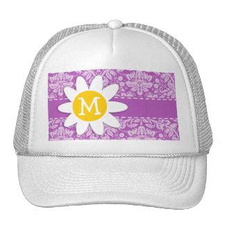 Deep Mauve Damask; Daisy Trucker Hat